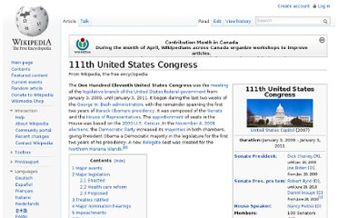 http://en.wikipedia.org/wiki/111th_United_States_Congress