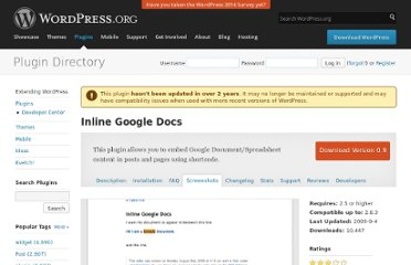 http://wordpress.org/extend/plugins/inline-google-docs/screenshots/
