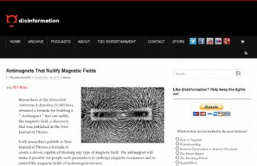 http://www.disinfo.com/2011/09/antimagnets-that-nullify-magnetic-fields/