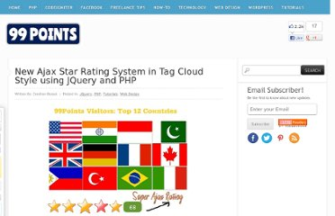 http://www.99points.info/2010/08/new-ajax-star-rating-system-in-tag-cloud-style-using-jquery-and-php/
