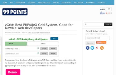 http://www.99points.info/2010/06/zgrid-php-ajax-grid-system-best-for-newbie/