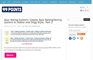 http://www.99points.info/2010/05/ajax-voting-system-create-ajax-rating-system-in-digg-and-dzone-style/