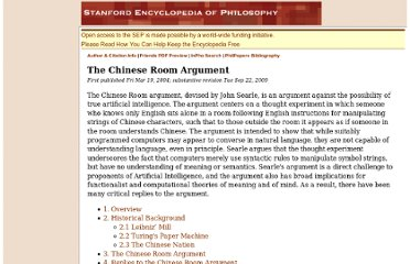 http://plato.stanford.edu/entries/chinese-room/#1