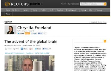 http://blogs.reuters.com/chrystia-freeland/2011/09/23/the-advent-of-the-global-brain/