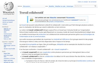 http://fr.wikipedia.org/wiki/Travail_collaboratif