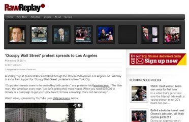 http://www.rawstory.com/rawreplay/2011/09/occupy-wall-street-protest-spreads-to-los-angeles/#.Tn-E7sEYCx8.twitter