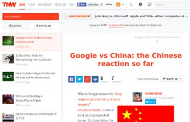 http://thenextweb.com/2010/01/13/google-china-chinese-reaction/