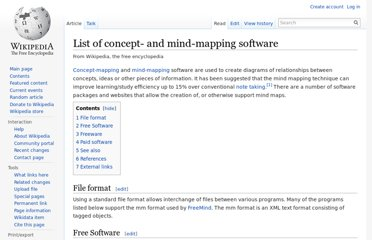 http://en.wikipedia.org/wiki/List_of_concept-_and_mind-mapping_software