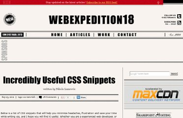http://webexpedition18.com/articles/useful-css-snippets/