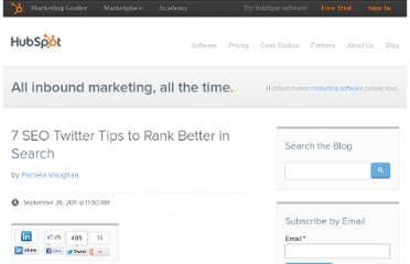 http://blog.hubspot.com/blog/tabid/6307/bid/26106/7-SEO-Twitter-Tips-to-Rank-Better-in-Search.aspx