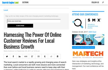 http://searchengineland.com/harnessing-the-power-of-online-customer-reviews-for-local-business-growth-92947