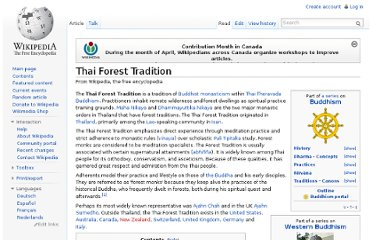 http://en.wikipedia.org/wiki/Thai_Forest_Tradition