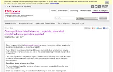 http://media.ofcom.org.uk/2011/09/22/ofcom-publishes-latest-telecoms-complaints-data-most-complained-about-providers-revealed/
