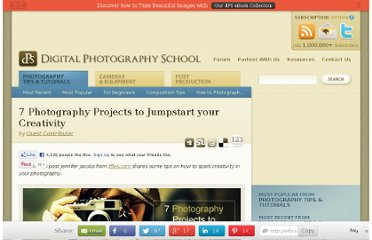 http://digital-photography-school.com/7-photography-projects-to-jumpstart-your-creativity
