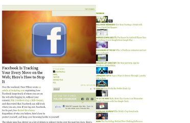 http://lifehacker.com/5843969/facebook-is-tracking-your-every-move-on-the-web-heres-how-to-stop-it