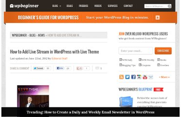http://www.wpbeginner.com/news/how-to-add-live-stream-in-wordpress-with-live-theme/