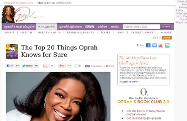 http://www.oprah.com/spirit/The-Top-20-Things-Oprah-Knows-for-Sure