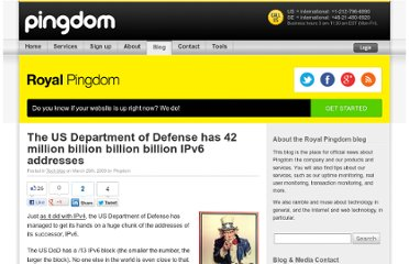 http://royal.pingdom.com/2009/03/26/the-us-department-of-defense-has-42-million-billion-billion-billion-ipv6-addresses/