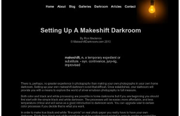 http://makeshiftdarkroom.com/darkroom/setting_up_amdr.html