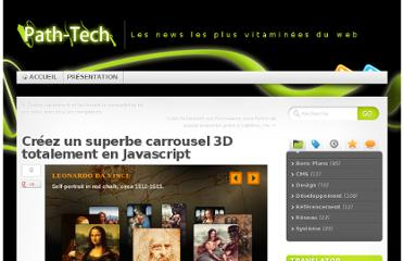 http://www.path-tech.fr/dev/creez-un-superbe-carrousel-3d-totalement-en-javascript/