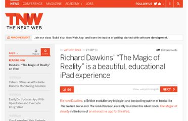 http://thenextweb.com/apps/2011/09/27/richard-dawkins-the-magic-of-reality-is-a-beautiful-educational-ipad-experience/