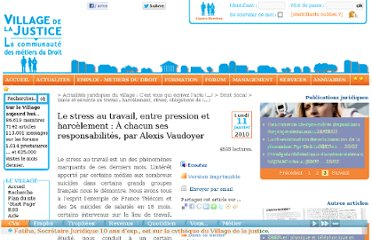 http://www.village-justice.com/articles/stress-travail-entre-pression,7225.html