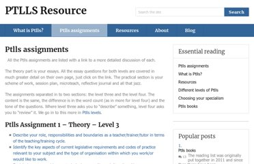 http://ptllsresource.co.uk/resources/ptlls-assignments