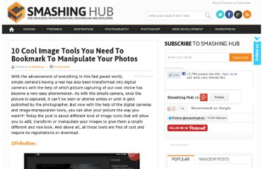http://smashinghub.com/10-cool-image-tools-you-need-to-bookmark-to-manipulate-your-photos.htm