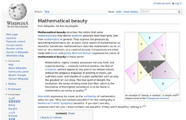 http://en.wikipedia.org/wiki/Mathematical_beauty