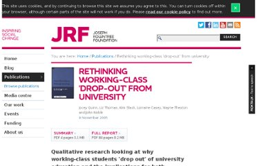 http://www.jrf.org.uk/publications/rethinking-working-class-drop-out-university