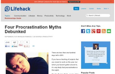 http://www.lifehack.org/articles/productivity/four-procrastination-myths-debunked.html