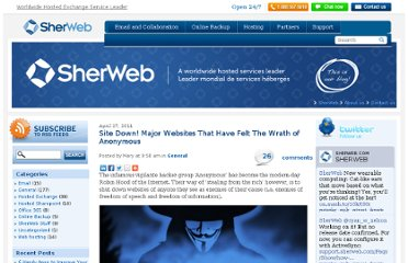 http://blog.sherweb.com/site-down-major-websites-that-have-felt-the-wrath-of-anonymous/