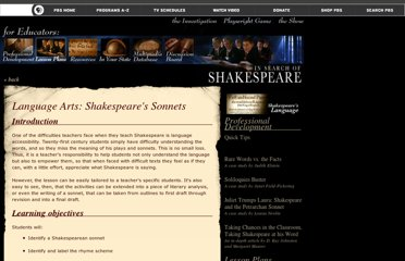http://www.pbs.org/shakespeare/educators/language/lessonplan.html