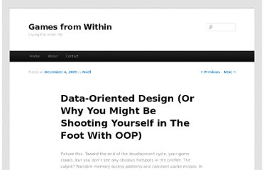 http://gamesfromwithin.com/data-oriented-design