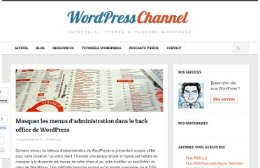 http://wpchannel.com/masquer-menus-administration-back-office-wordpress/