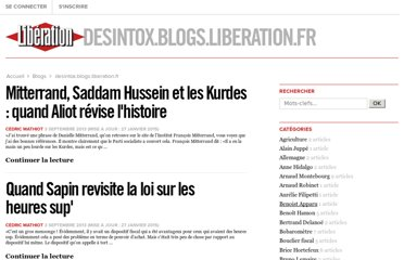 http://desintox.blogs.liberation.fr/blog/