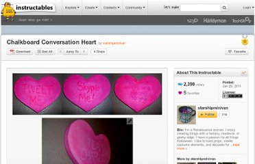 http://www.instructables.com/id/Chalkboard-Conversation-Heart/