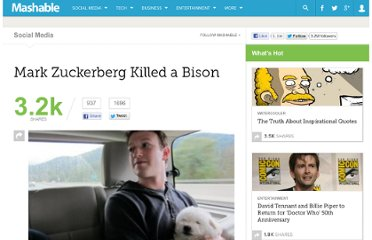 http://mashable.com/2011/09/27/mark-zuckerberg-killed-a-bison/