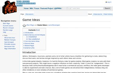 http://content.gpwiki.org/index.php/Game_Ideas