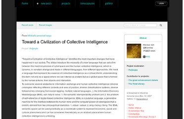 http://spacecollective.org/Wildcat/5280/Toward-a-Civilization-of-Collective-Intelligence