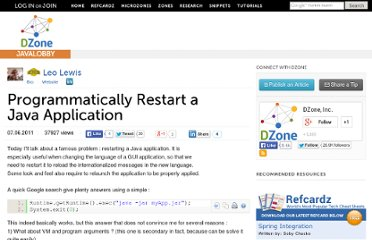 http://java.dzone.com/articles/programmatically-restart-java