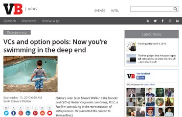 http://venturebeat.com/2010/09/13/vcs-and-option-pools-now-you%e2%80%99re-swimming-in-the-deep-end/