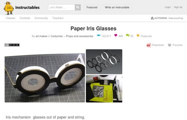 http://www.instructables.com/id/Paper-Iris-Glasses/