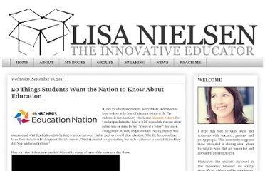 http://theinnovativeeducator.blogspot.com/2011/09/20-things-students-want-nation-to-know.html