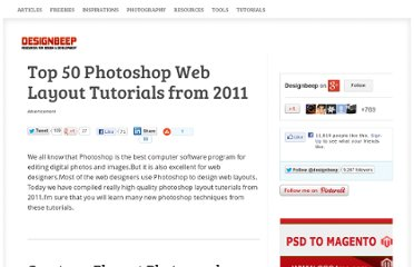 http://designbeep.com/2011/09/27/top-50-photoshop-web-layout-tutorials-from-2011/#