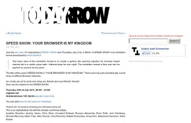 http://www.todayandtomorrow.net/2011/07/14/speed-show-your-browser-is-my-kingdom/