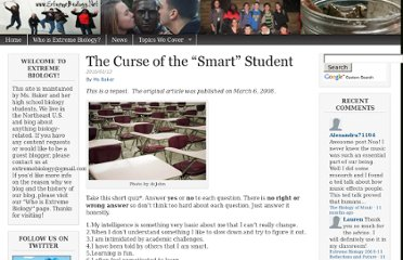 http://missbakersbiologyclass.com/blog/2010/01/13/the-curse-of-the-smart-student/