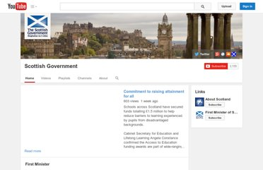 http://www.youtube.com/user/scottishgovernment?feature=autoshare