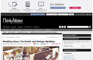 http://www.chickadvisor.com/article/wedding-ideas-the-rustic-and-vintage-wedding/