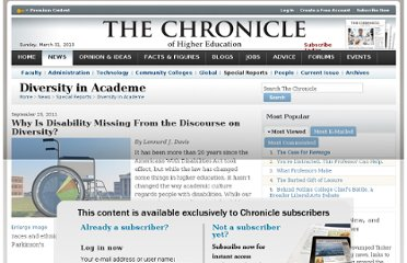 http://chronicle.com/article/Why-Is-Disability-Missing-From/129088/